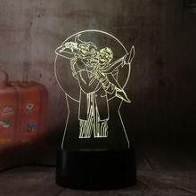 Cool Child Led Nightlight Marvel Harley Quinn Night Lamp for Kids Bedroom Decorative Joker Suicide Squad 3d Light