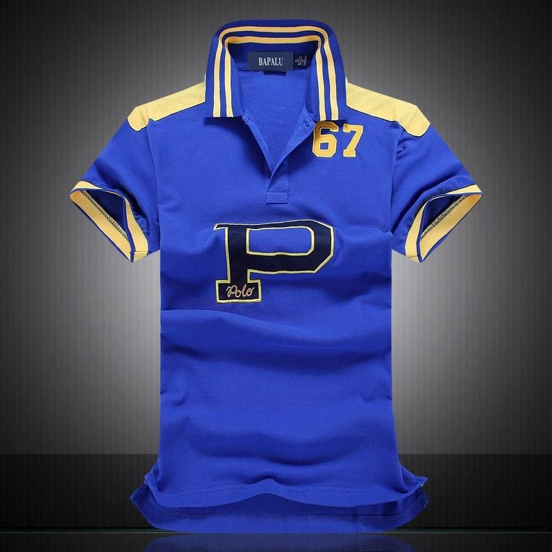 2019 New High Quality mens   polos   shirt famous brands 100% Cotton   polo   shirt men lapel P Embroidery camiseta   Polo   shirt men