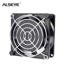 Alseye AC 220/240 В вентилятор 80 мм два шариковый подшипник вентилятора охлаждения с крышкой 50/60 Гц 2600 об./мин. металлический каркас 8 см охлаждающих вентиляторов переменного тока