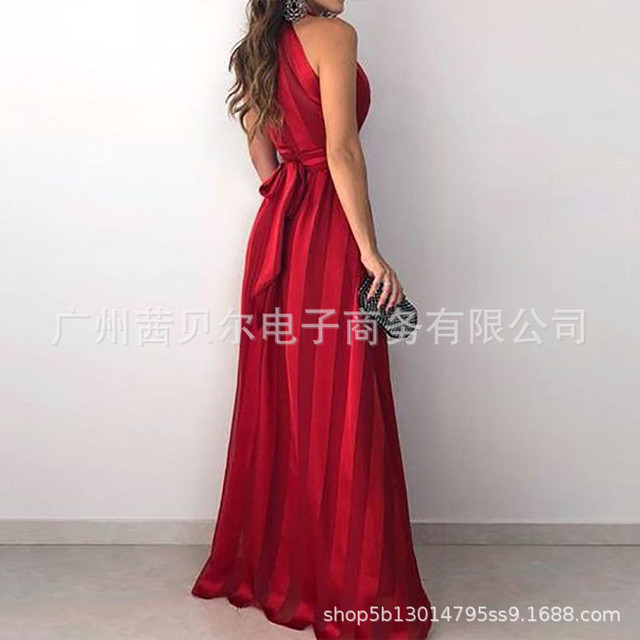 Summer Vintage Elegant Sundress Sexy Party Night Maxi Red Dress 1