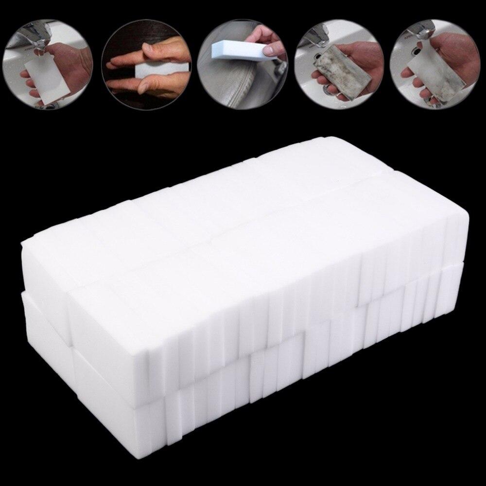 100Pcs White Magic Sponge Cleaner Eraser Multi functional Cleaner ...