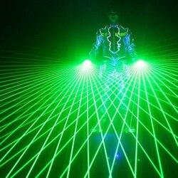 1 Pcs Super Cool Groene Laser Handschoenen Dancing Stage Show Light Met 4 pcs Lasers Lichtgevende Handschoenen Licht voor DJ club Party Bars