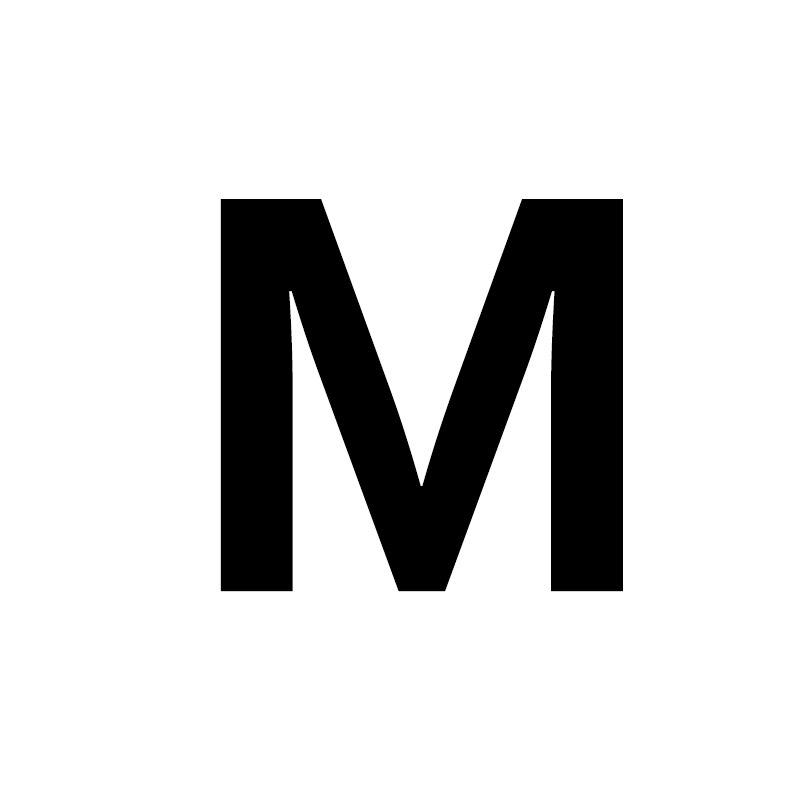 Унисекс, золото, серебро, цвет, A-Z, 26 букв, первоначальное имя, кольца для мужчин и женщин, геометрический сплав, креативные кольца на палец, ювелирные изделия - Цвет основного камня: M