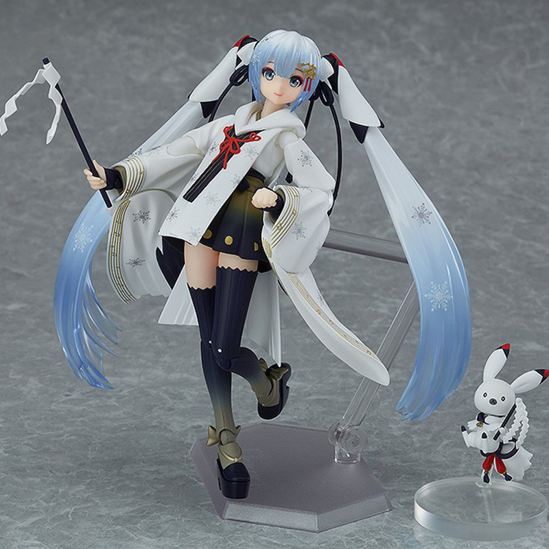 Anime Hastune Miku EX-045 Snow Miku PVC Action Figure Crane Priestess Ver. Snow Miku Model Gifts no retail box (Chinese Version)