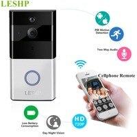 LESHP Video Doorbell 1080P Wireless WiFi Ring Door Bell HD 2 4G Phone Remote PIR Motion