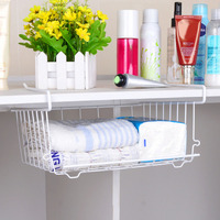 Multi Purpose Metal Hanging Basket Under Shelf Basket Storage Holder Hanging Drawer Organizer Basket Wrap Rack
