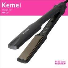 Black KM-329 Professional Tourmaline Ceramic Heating Plate Hair Straigh