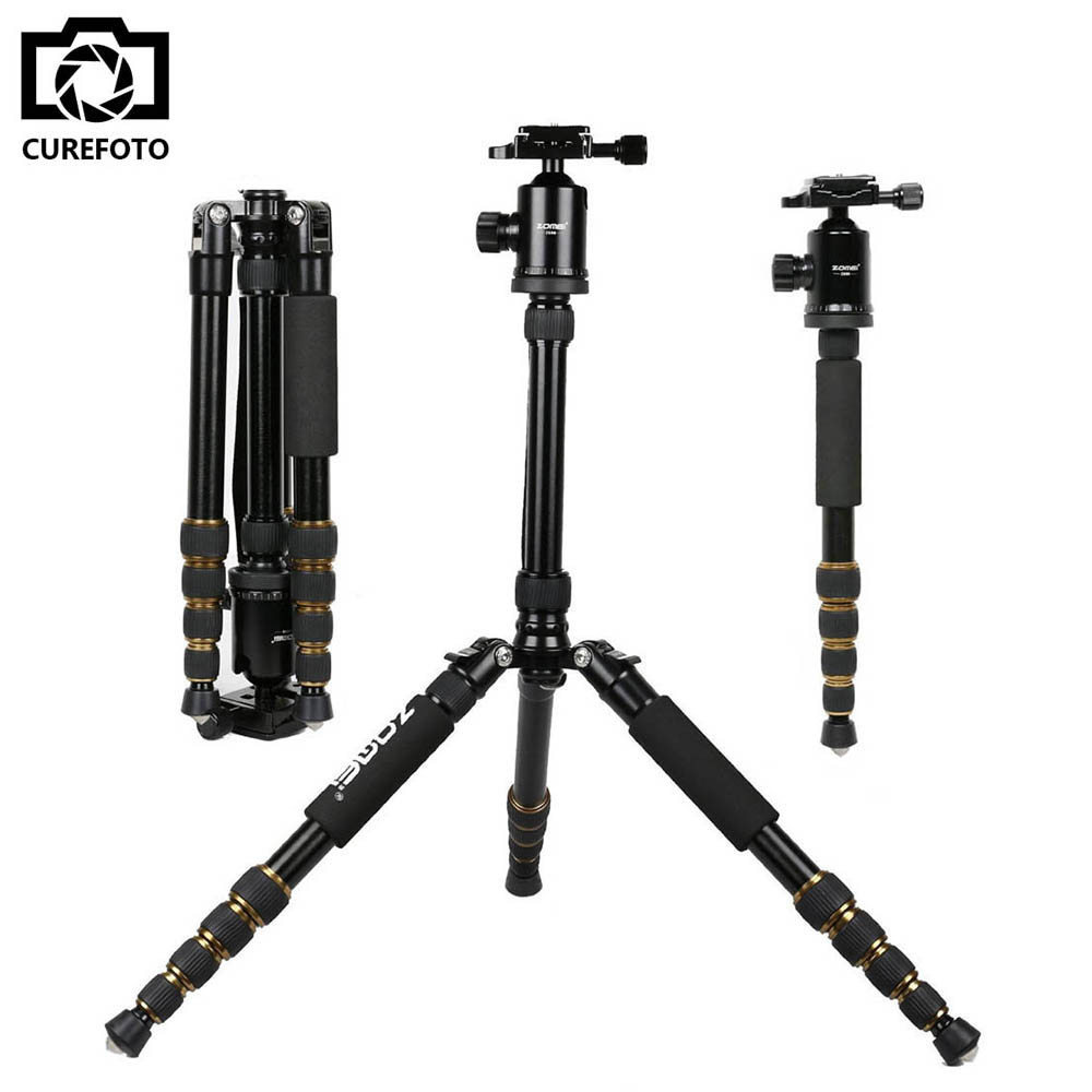 ZOMEI Professional Portable Z699 Aluminum Tripod for DSLR Camera Camcorder Travel Tripod Stand Removable Monopod with Ball Head ashanks professional aluminum camera tripod mini portable monopod with ball head for dslr photography video studio load 10kg