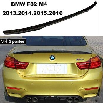HLONGQT karbon fiber rüzgarlık BMW F82 M4 2013.2014.2015.2016.2017 Yüksek Kalite Araba Arka Kanat Spoiler Oto Aksesuarları