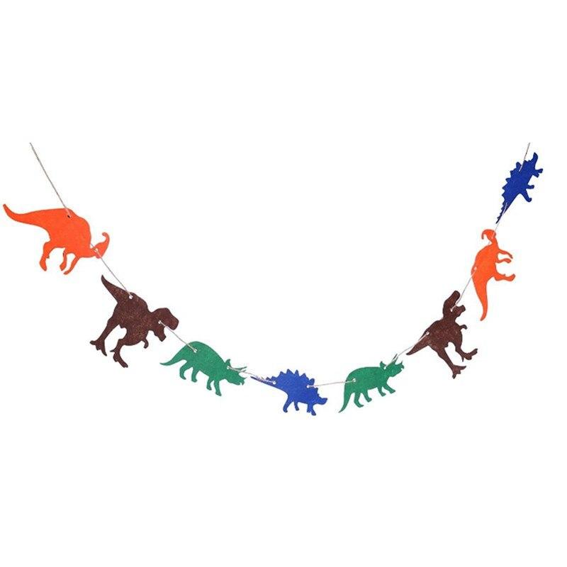 1 Stücke 3 Mt Nette Non-woven Dinosaurier Flagge Spielzeug Schneeflocke Papier Kreative Banner Papier Membran Puzzle Spiele Party Geschenk Für Kinder Reich An Poetischer Und Bildlicher Pracht