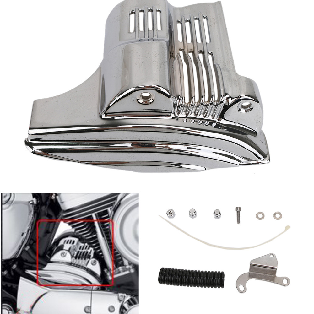 Billet Metal Chrome Starter Cover For Harley Sportster 1200 883 XL Models 2004 - 2009 Motorcycle Accessorise C/5 mtsooning timing cover and 1 derby cover for harley davidson xlh 883 sportster 1986 2004 xl 883 sportster custom 1998 2008 883l