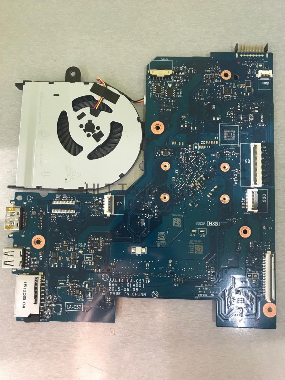 HOLYTIME Carte Mère D'ordinateur Portable Pour DELL 15 5000 5552 ALL14 LA-C571P CN-0F77J1 0F77J1 DDR3L SR29E N3700 CPU 100% entièrement testé