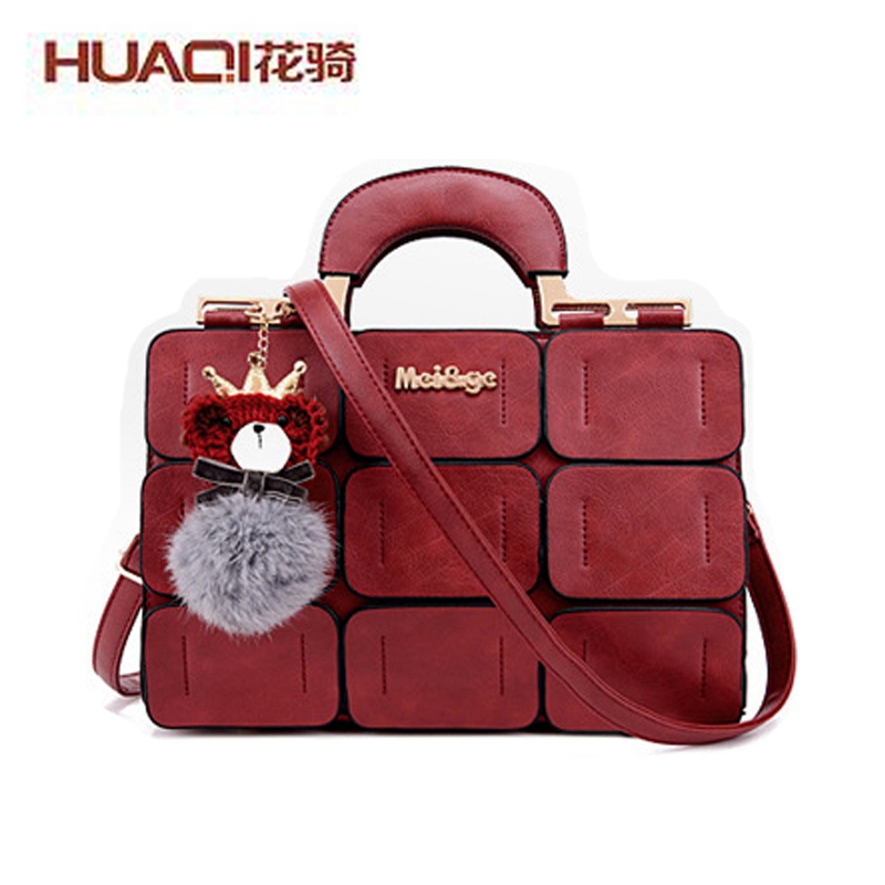 ФОТО High Fashion New Designers 2017 Messenger Bags for Women PU Leather High Quality Famous Brand Ladies Handbags HQ331