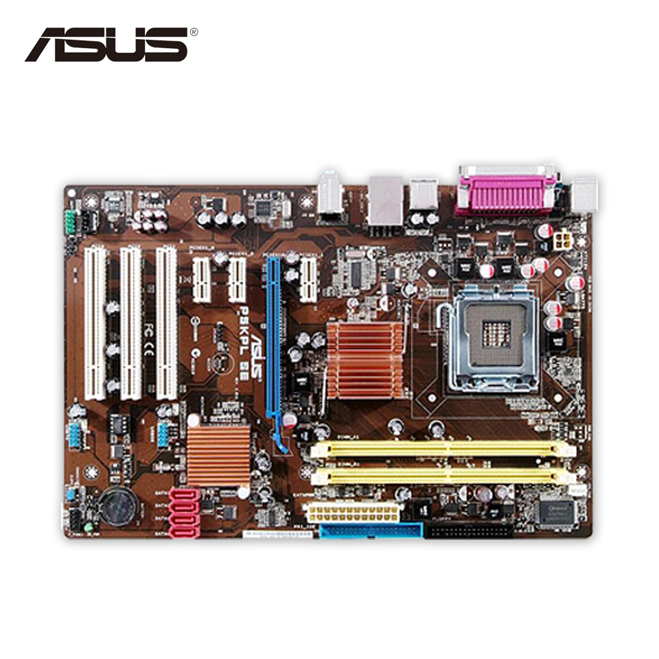 Original Used Asus P5KPL SE Desktop Motherboard G31 Socket LGA 775 DDR2 4G SATA2 UBS2.0 ATX 100% Fully Test asus original motherboard g31m s2l g31 ddr2 lga 775 motherboard