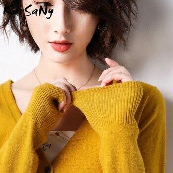 KarSaNy Autumn Cashmere Sweater Cardigan Women Plus Size Fall 2019 Autumn Winter Fashion Knitted Black Cardigan Femme Cashmere autumn cashmere шаль