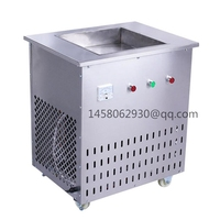 Commercial Use Stainless Steel Ice Cream Frying Machine Single Pan Fried Ice Cream Roll Machine Frozen