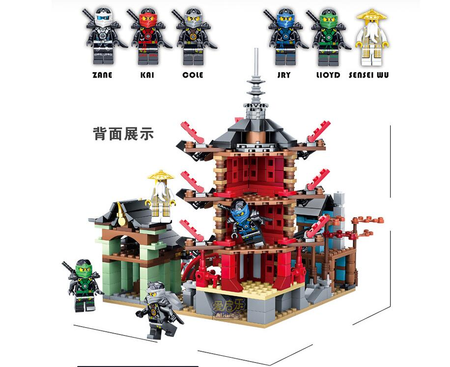 06022 Ninjagoed City of Stiix Building Blocks 737pcs Temple Airjitzu Kids Bricks Toys Compatible With Lepin 10427