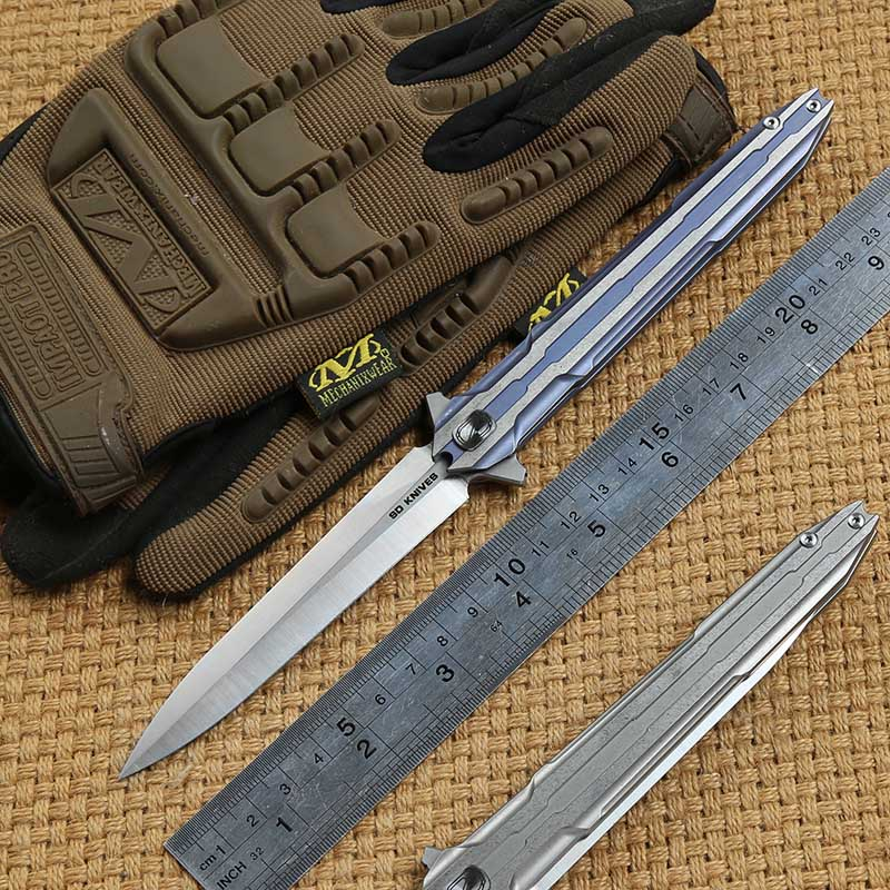 STEDEMON E01S tactics folding knife VG10 blade KVT ball bearing titanium handle camping hunting outdoor Survival
