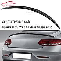 RT C63 PSM R Estilo Fibra De Carbono Spoiler Traseiro Asa para Mercedes C W205 2 porta Coupe 2015 + trunk Bota Lip C250 C300 C350 C400|Spoilers e aerofólios| |  -