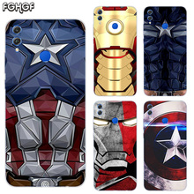 Captain Iron Man Frosted Fundas Soft TPU Print Case For Huawei Honor V20 8X 7 8 9 10 lite 7X 8A V9 Play Cover
