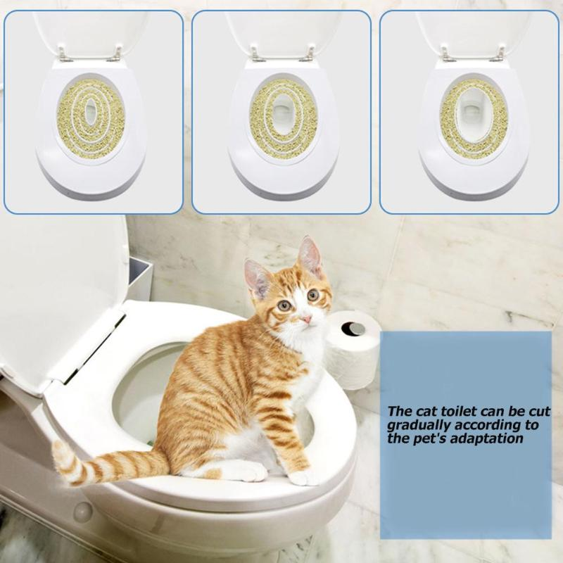 Cat Toilet Seat Training Kit Plastic Puppy Litter Potty Tray Pets Cleaning Supplies Healthy Pet Cats Human Toilet Grooming Tools