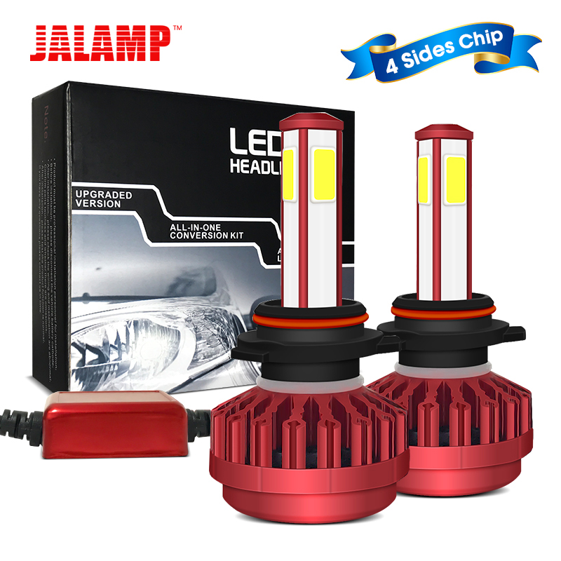 10000lm 360 Degree No Blind 12V 9005 HB3 H4 Led Auto Lamps Hi-Lo Beam Auto Accessories Parts Light Bulbs For Cars Plug And Play
