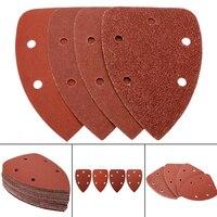 Для выведения токсинов, 40 шт 140x100 мм песок Бумага пять отверстий диск песка листы 40 80 120 240 зернистая шлифовальная Шкурка Шлифовальные подуше...