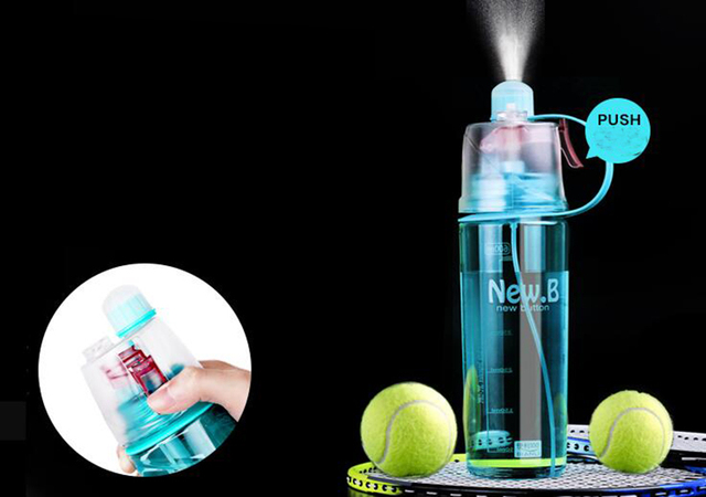 Reusable mist water bottle