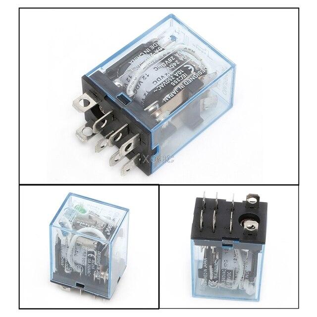 1pc ly2nj led lamp 10a dc 12v ac 240v dpdt 8pin coil power relay 2no rh aliexpress com power window relay for sale Electrical Relay Symbols