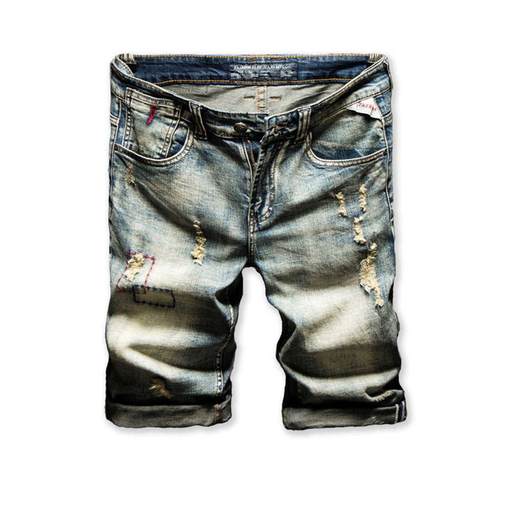 Men Vintage Jeans Fitness Casual High Street   Short   Jeans 2019 Hip Hop Elegant Beach   Shorts   Novelty Harajuku Hot Sale Clothes