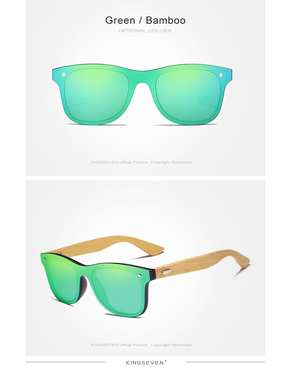 KINGSEVEN 2019 Bamboo Polarized Sunglasses Men Wooden Sun glasses Women Brand Original Wood Glasses Oculos de sol masculino