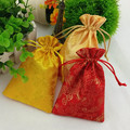 Chinese Silk  Embroidery The Classic Dragon Gift Bag 9x14cm Pack Of 50 Wedding Favor Holder Jewelry Packaging Pouch