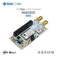 WisTrio LoRa Tracker RAK5205 построен на SX1276 LoRaWAN модем с низкой мощности micro-контроллер STM32L1, встроенный модуль gps