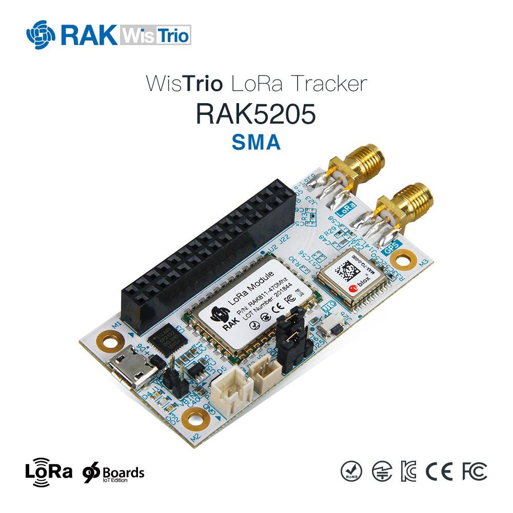 WisTrio LoRa Tracker RAK5205 ist gebaut auf SX1276 LoRaWAN modem mit niedrigen power micro-controller STM32L1, integrierte die GPS modul