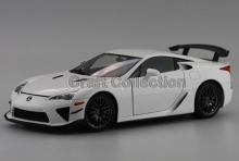 * White 1/18 Scale LEXUS LFA Tail Version Coupe Luxury Sport Car Collection Diecast Model Car Aluminum Several Colors