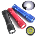 Mini Professional Underwater 150M Diving Flashlight  Elastic Switch Led Scube Diver waterproof flashlight + lanyard ring