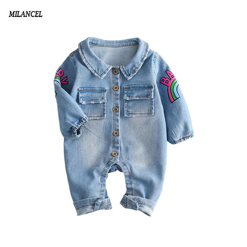 8cdeef1d6391 Detail Feedback Questions about 2018 Baby Boys jeans blue jumpsuit ...