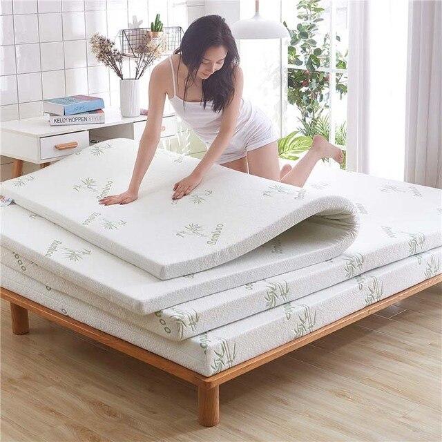 Chpermore Engrossar esponja Tatami 1.2/1.5 m cama Estudante único Colchão de casal Toppers Família Colchas Rainha do Rei Gêmeo Completo tamanho