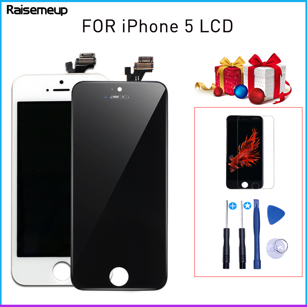 Display lcd Touch Screen Digitizer Assembly Replacement for <font><b>iphone</b></font> <font><b>5</b></font> with High Quality AAA pantalla <font><b>ecran</b></font> 2Gift with free ship image