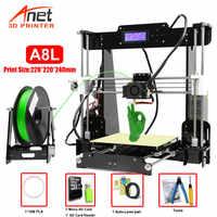 Nouveau Anet A8 A6 3D imprimante kit de bricolage grande taille d'impression haute précision Reprap i3 bricolage avec 8G Micro SD carte USB Connetor