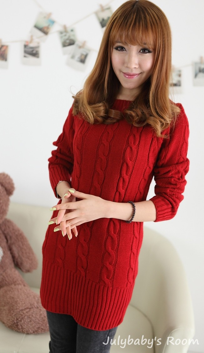 e0b1c15650f9 2015 Winter Women Sweater dress Slim Extra Long Women Sweaters and  Pullovers Sexy Red Navy Warm Knitted Christmas Sweater