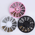 1 Box Flat Bottom Rhinestones 3D Nail Art Decorations In Wheel Mixed Size Manicure Studs Nail Art Accessories