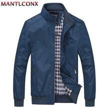 MANTLCONX メンズ新ルースメンズジャケットスポーツウェア屋外爆撃機のコート男性春 6XL 2019
