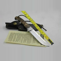 Browning 7Cr17mov Blade 58HRC Shadow Wood Handle Hunting Fixed Blade Knife Outdoor Camping Tool Survival Tactical