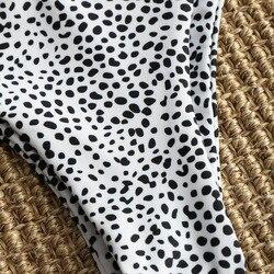 ZAFUL BIkini Sexy High Cut Leopard stringi Bikini zestaw damski strój kąpielowy paski stroje kąpielowe usztywniany brazylijskie BIkini z dekoltem w kształcie litery v SwimmingSuit 4
