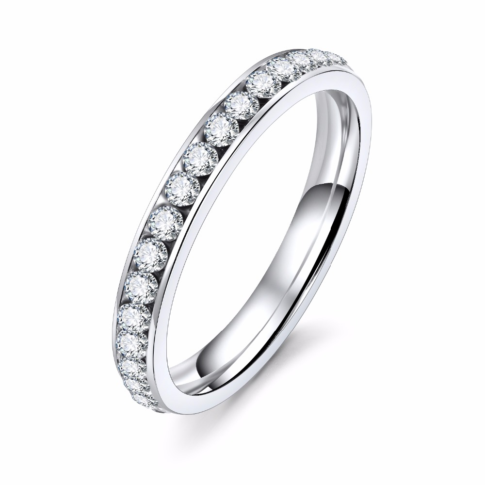 KISS WIFE Cubic Zirconia Women Wedding Ring Ladies Eternity Engagement Rings Promise Jewelry bague femme dropshipping
