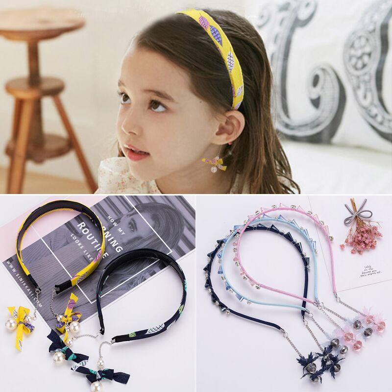 Hair-Hoop Earrings Jewelry Headdress Tassel-Headband Baby-Pins Children Teeth-Anti-Skid-Clip