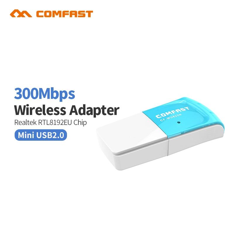 Quality RTL8192CU 802.11n Mini 300Mbps Wireless USB WiFi Adapter WiFi Dongle Network WLAN Card For Windows XP/7/8/10/Linux/Mac