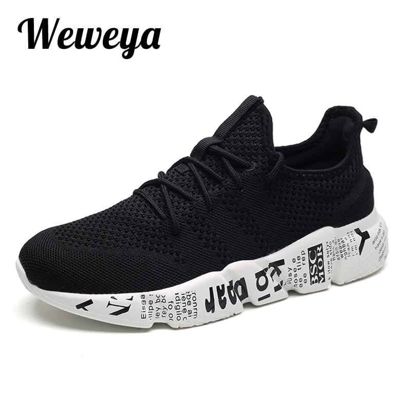 bac044777a Weweya 39-48 Grande Tamanho Das Sapatilhas Homens Sapatos Casuais Primavera  Outono Sapatos Masculinos Tenis