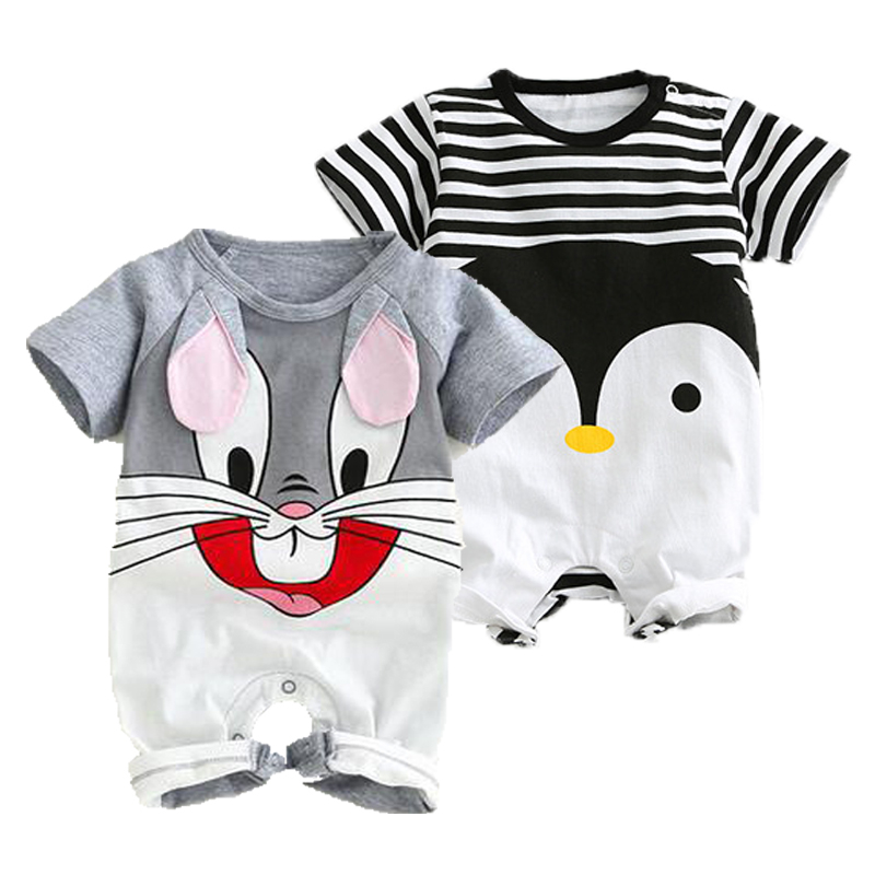 Baby Rompers Summer Baby Boy Clothes Cotton Baby Girl Clothing Short Sleeve Newborn Clothes Roupas Bebe Infant Baby Jumpsuits baby boys rompers infant jumpsuits mickey baby clothes summer short sleeve cotton kids overalls newborn baby girls clothing
